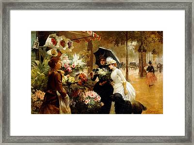 Summer Flowers Framed Print by Louis de Schryver
