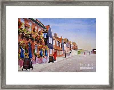 Summer Folkestone Harbour Uk Framed Print by Beatrice Cloake
