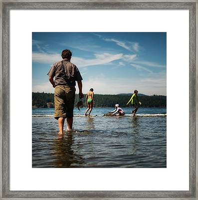 Summer Fun Framed Print by Geoffrey Baker