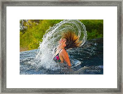 Summer Fun  Framed Print by Kaye Menner