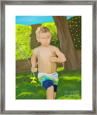 Summer Fun Framed Print by Scott Laffin