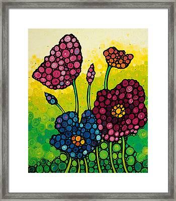 Summer Garden 2 Framed Print by Sharon Cummings