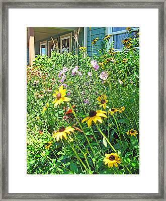 Summer Garden Framed Print by Barbara McDevitt