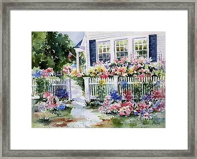 Summer Garden Framed Print by Bobbi Price