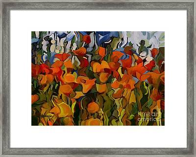 Summer Garden Dance Framed Print by Dorinda K Skains