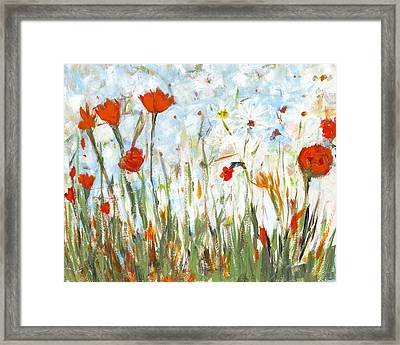 Summer Garden Framed Print by David Dossett