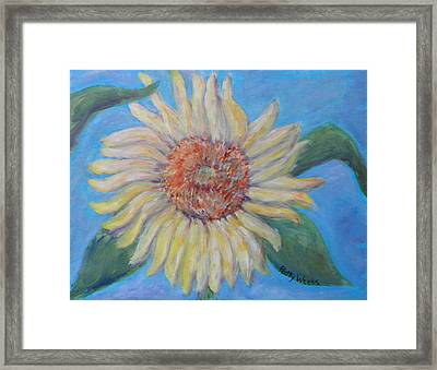 Summer Garden Sunflower Framed Print by Patty Weeks