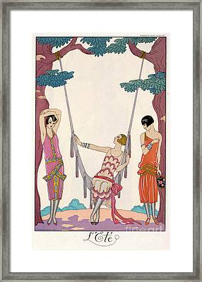 Summer Framed Print by Georges Barbier