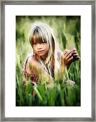 Summer Girl Framed Print by Gun Legler