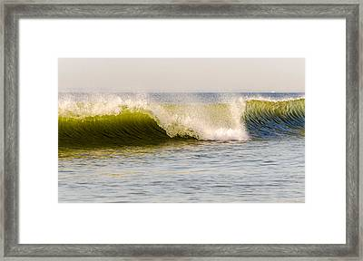 Summer Green Room Breaking Framed Print