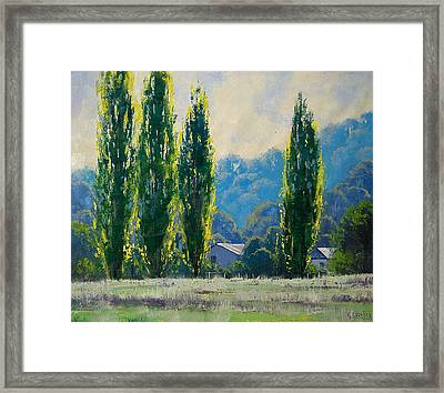 Summer Greens Framed Print by Graham Gercken
