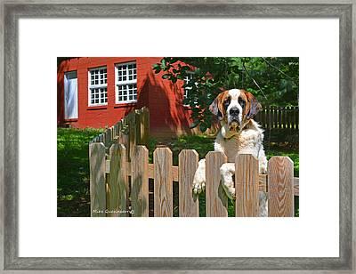 Summer Greetings From Jackson Framed Print