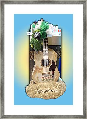 Summer Guitar Framed Print by Barbara McDevitt