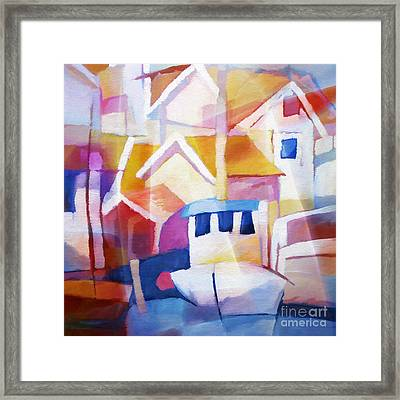 Summer Harbour Framed Print by Lutz Baar
