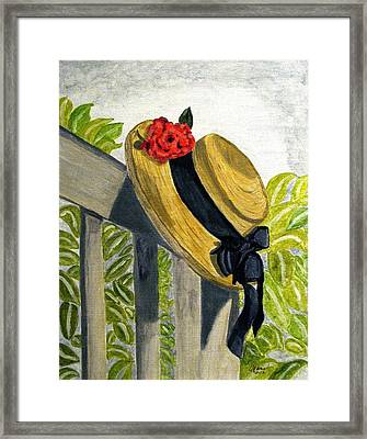 Summer Hat Framed Print