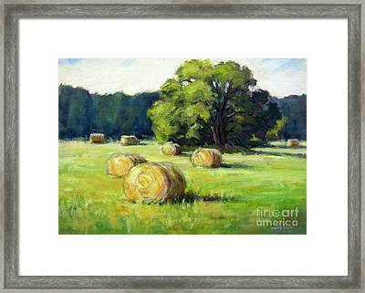 Summer Hay Framed Print by Vickie Fears