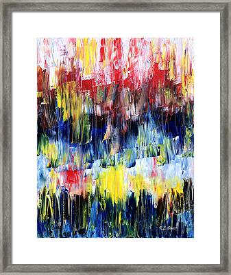Framed Print featuring the painting Summer Haze by Rebecca Davis