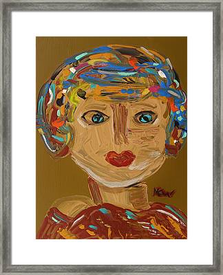Summer Headwrap Framed Print by Mary Carol Williams