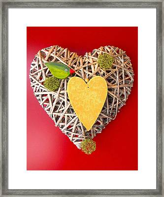 Framed Print featuring the photograph Summer Heart by Juergen Weiss