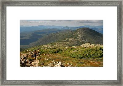 Summer Hike On The Crawford Path Framed Print