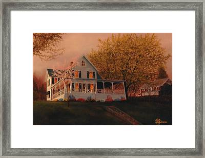 Framed Print featuring the painting Summer Home by Rick Fitzsimons