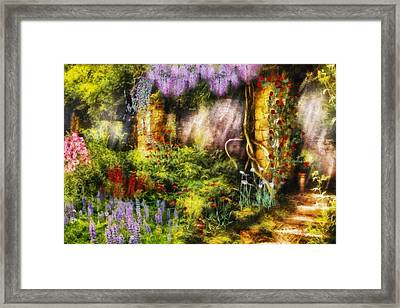 Summer - I Found The Lost Temple  Framed Print by Mike Savad