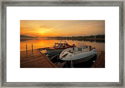 Summer Idyll Framed Print by Rose-Maries Pictures