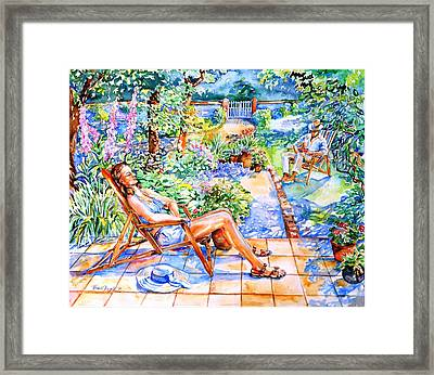 Summer In An Irish Garden  Framed Print by Trudi Doyle