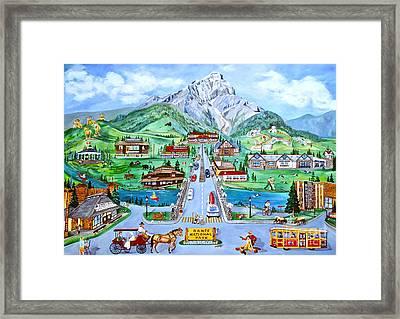 Summer In Banff Framed Print by Virginia Ann Hemingson