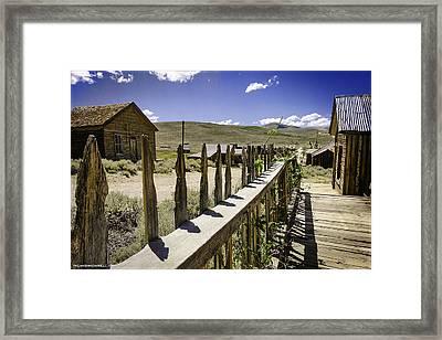 Summer In Bodie California Framed Print