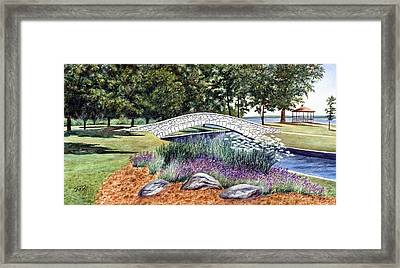 Summer In Doty Park Framed Print