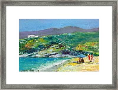 Summer In Greek Island Framed Print