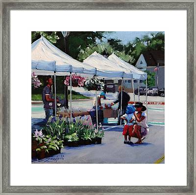 Summer In Hingham Two Framed Print