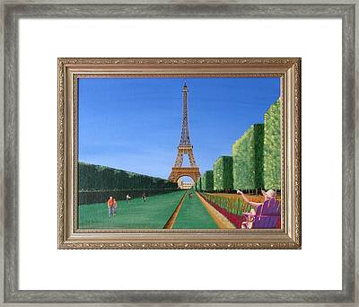 Framed Print featuring the painting Summer In Paris by Ron Davidson