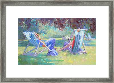 Summer In St James Park Framed Print by Jackie Simmonds