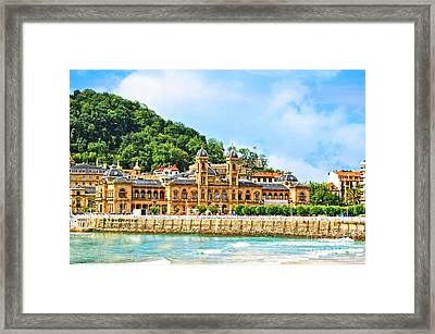 Summer In St Sebastian Framed Print