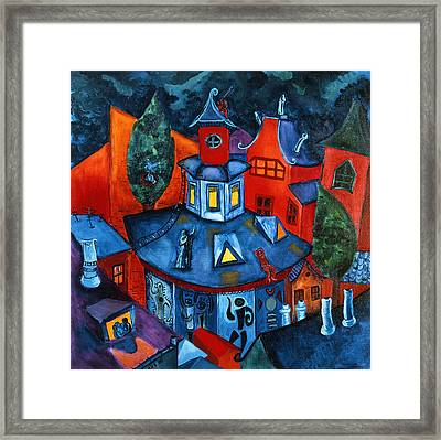 Summer In The City Framed Print by Sabina Nedelcheva-Williams