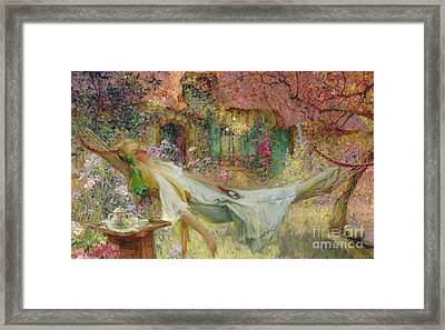 Summer In The Garden Framed Print by Darien Henri-Gaston