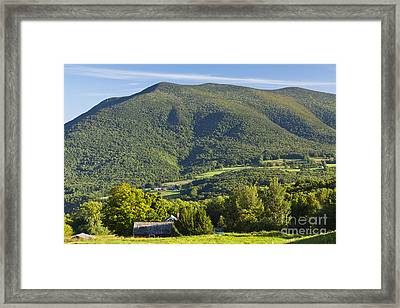 Summer In The Green Mountains Framed Print by Alan L Graham