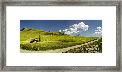Summer In The Mountains Panorama Framed Print by Sabine Jacobs