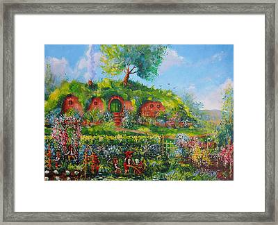 Summer In The Shire Framed Print by Joe  Gilronan
