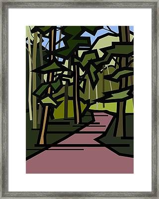Summer In The Woods Framed Print by Kenneth North