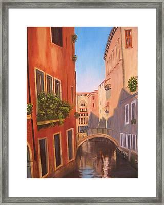 Summer In Venice Framed Print by Edna Fenske