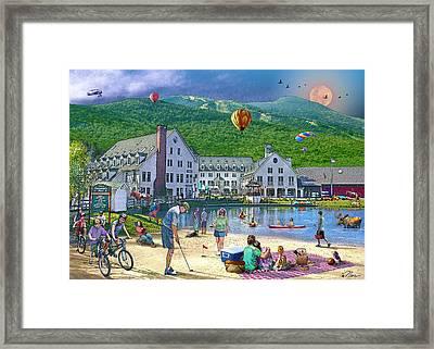 Summer In Waterville Valley Framed Print