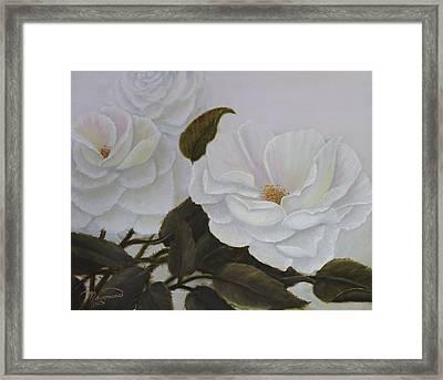 Summer In White Framed Print
