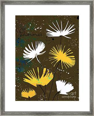 Summer Joy - Bdc01b Framed Print by Variance Collections