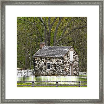 Summer Kitchen In Spring - Colonial Stone Framed Print