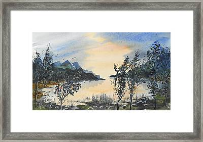 Summer Lake Framed Print
