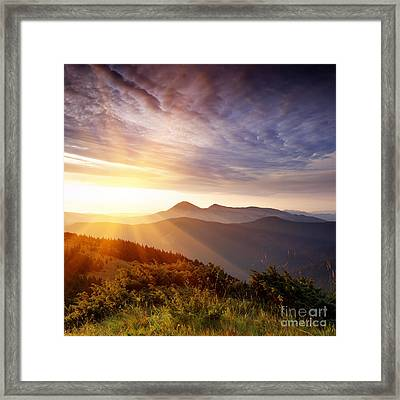 Summer Landscape Framed Print by Boon Mee