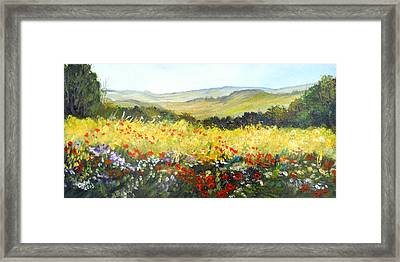 Summer Landscape Dream Framed Print
